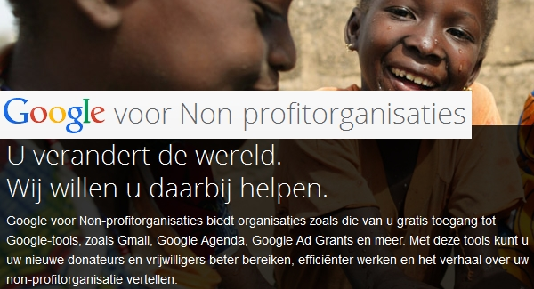 Google Ad Grants – AdWords voor non-profit organisaties